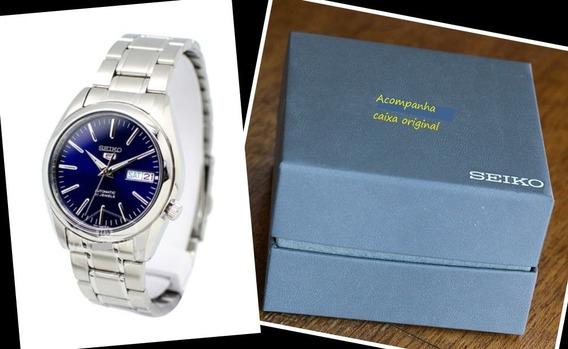 Relógio De Aço Automático Seiko 5 Snkl 43k1 Original