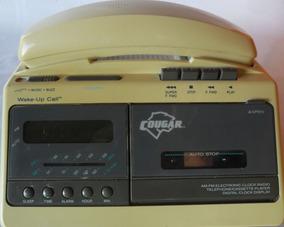 Rádio Relógio De Mesa Antigo 4x1 Para Colecionador