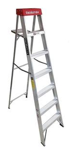 Escalera Aluminio Escalumex 6 Peldaños Domestica 2.13 Mts St
