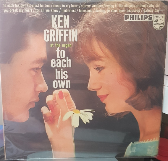 Lp Ken Griffin To Each His Own. Philips. Capa Roberto Carlos