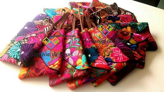 Bolsas/carteras/ Tipo Cluch Bordadas/ Artesanal/ De Moda