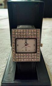 Relógio Feminino De Pulso Prateado +pulseira+ Frete Grátis
