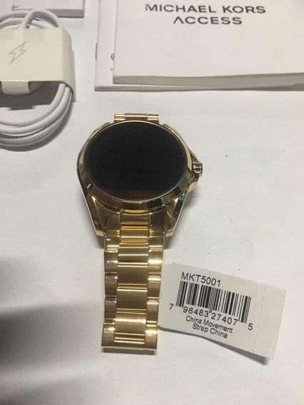 Relógio Michael Kors Dourado Acess Digital Mkt5001