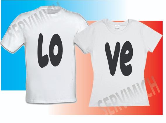 2 Playeras De Amor Y Amistad
