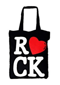 Bolsa I Love Rock Punk Sacola Ecobag Passeio