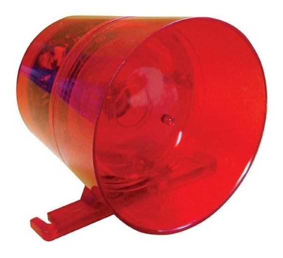 Sirene Para Alarmes Audivisual 12v Com Luz Vermelha Potente