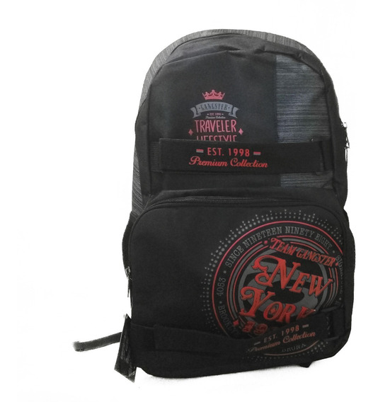 Mochila Masculina Notebook Skate Gangster Premium Colection