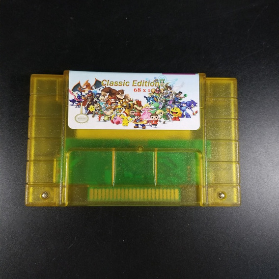 Cartucho Super Nintendo 68 Em 1 Donkey Kong 123 Rpgs