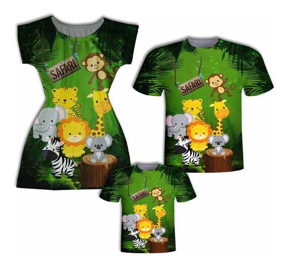 Camisas Pai E Filho + Vestido Mãe - Safá Baby