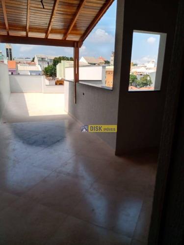 Cobertura Com 2 Dormitórios À Venda, 52 M² Por R$ 400.000,00 - Parque Das Nações - Santo André/sp - Co0072