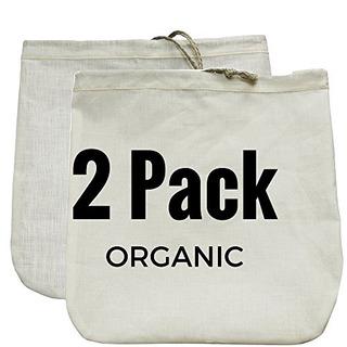 Nut Milk Bag 2 Pack Calidad Comercial Y Reutilizable 12x12 H