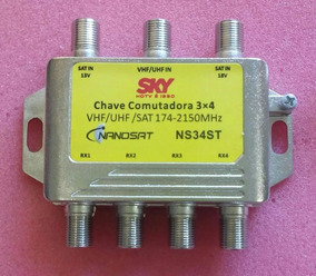 Chave Comutadora 3x4 - Diplexer - Divisor 10 Pçs