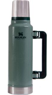 Termo Stanley Classic 1,4 Lts. Asa Plegable Verde