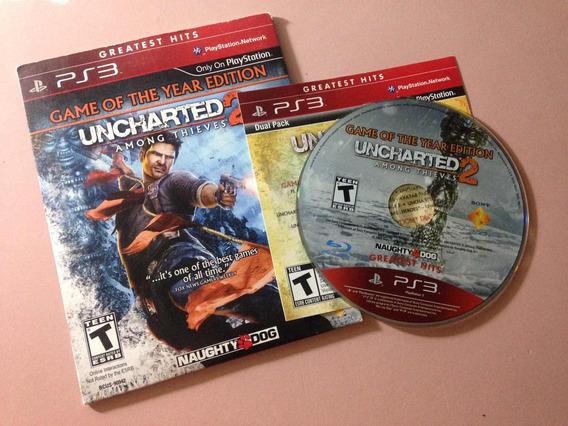 Uncharted 2 Ps3 Playstation 3 Mídia Física Pouco Uso $79,99