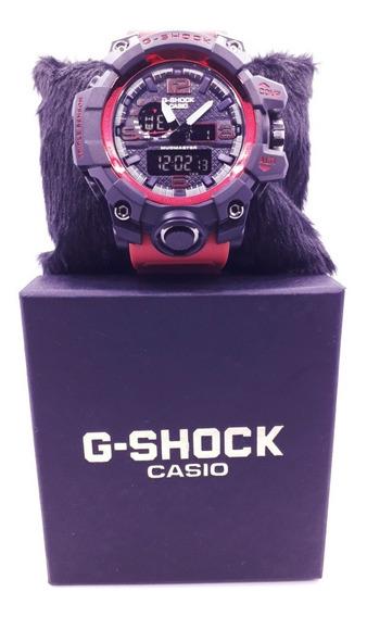 Relógio Luxo Vermelho E Preto