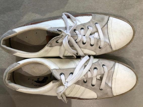 Zapatillas Diésel / Cuero Blancas / Poco Uso/ Hermosas