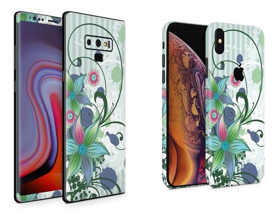 Skin Floral V1 Para Apple Samsung Huawei Lg Sony Xiaomi Etc