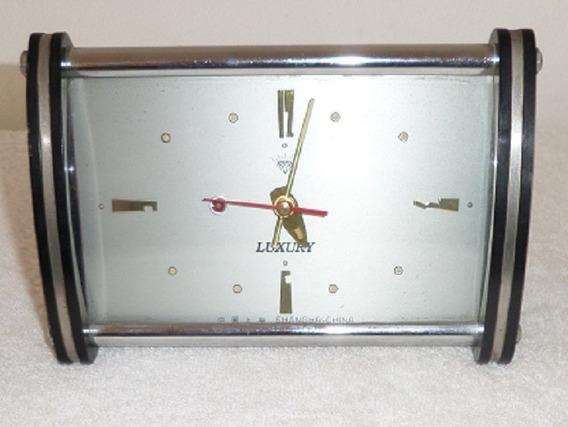 Reloj Despertador De Cuerda Shanghai China Vintage Antiguo