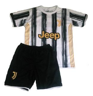 Conjunto Criança Infantil Juventus Ronaldo Uniforme Time