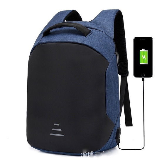 Mochila Antirrobo Carga Usb Impermeable Escolar Laptop