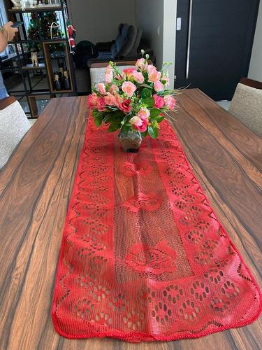 Caminho De Mesa Retangular Tulipa Renda 1,5m X 40cm Promoção