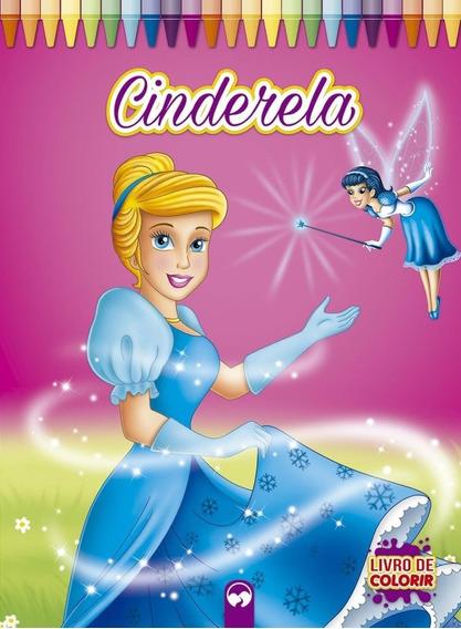 Livro De Colorir - Cinderela