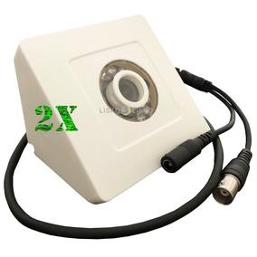 Kit C/ 02 Câmera De Segurança Ccd Ir10 700 Linhas Triangular