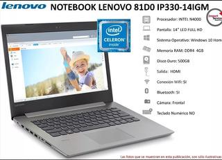 Notebook Lenovo Ip 330-14igm N4000 4gb Ram 500gb