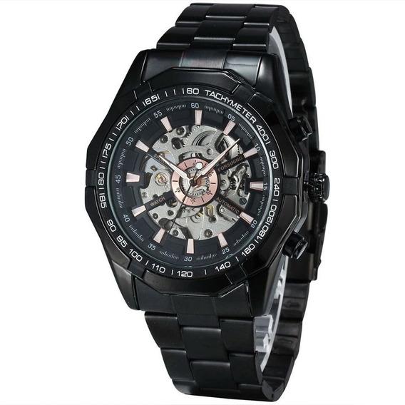Relógio Masculino Forsining Automático Aço Inox Luxo