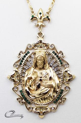 Colar De Cristo, 10 Camadas Ouro 18k ,joia, Presente,