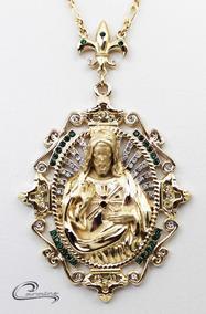 Colar, Cristo, Pingente, Joia, Folheado, Ouro 18k