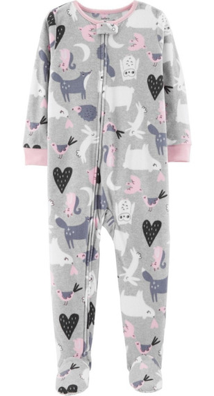 Pijamas Micropolar Carters Antideslizante Nena Niña 2t A 5t