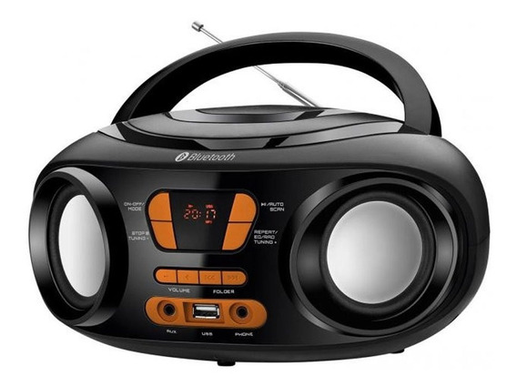 Rádio Portátil Mondial Entrada Usb Bluetooth Display Digit