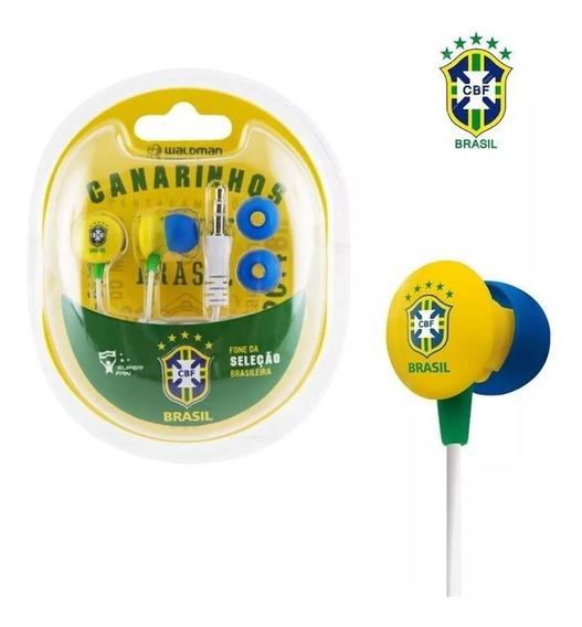 Fone De Ouvido Cbf Seleção Brasileira Canarinhos Auricular