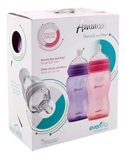 Biberones Para Bebe Paq Con Dos Evenflo Advanced 9oz Niña