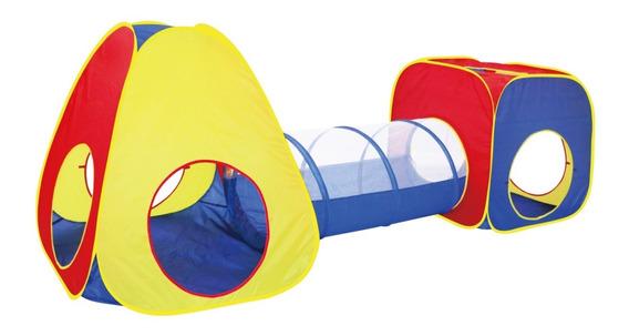 Barraca Infantil Com Toca Túnel 3x1 Infantil Tipo Piscina