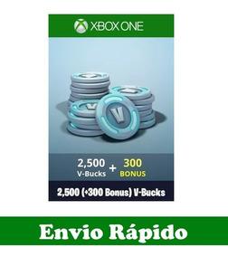 Fortnite 2500 V-bucks + 300 Bônus - Ativação Pc E Xbox One