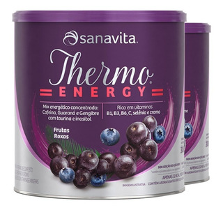 Kit 2 Thermo Energy Termogênico Sanavita 300g Frutas Roxas