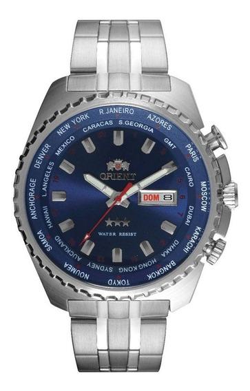 Relógio Orient Masculino Azul Aço Automático 469ss057 D1sx