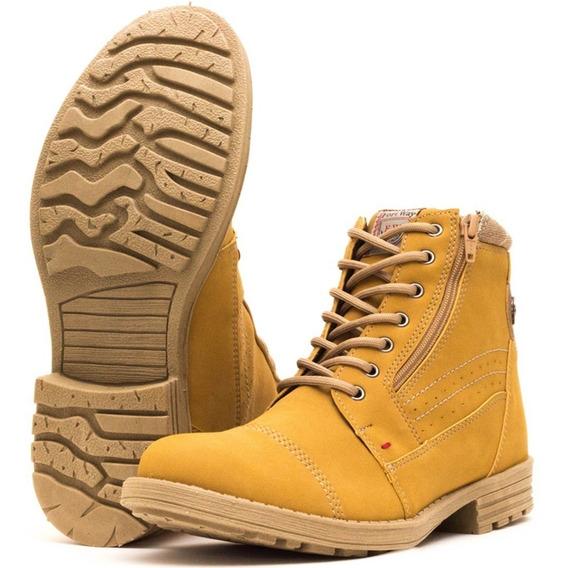 Bota Coturno Casual Sapato Masculino Amarela Oferta 2018