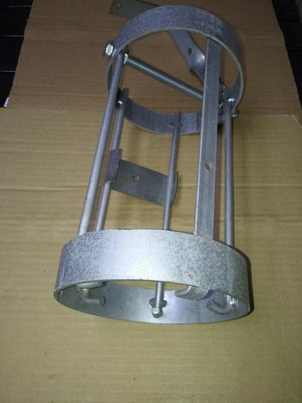 Grade Protetor Ferro Câmera Cftv Externa Modelo Tubular - Cinza Zincada
