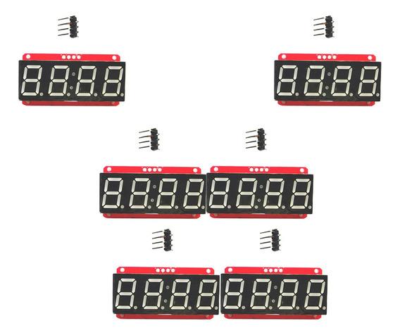 6pc 4 Dígito Tubo 7- Segmento 0.56 -inch Módulo Exibiçã
