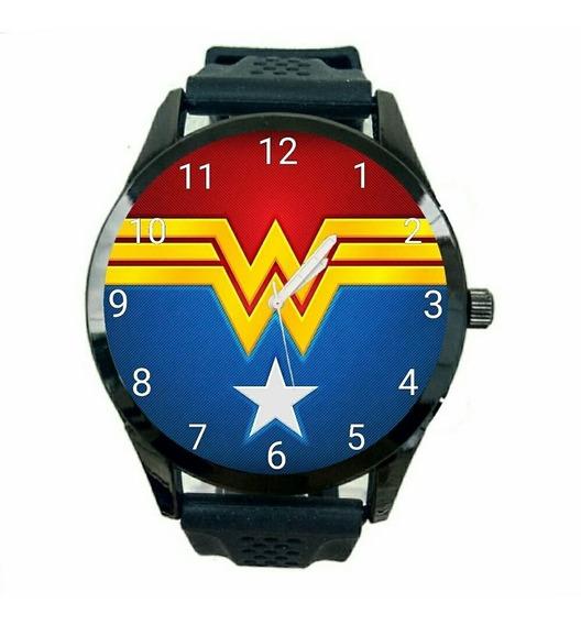 Kit 10 Relógios Mulher Maravilha Unissex Dc Comics Novo T760