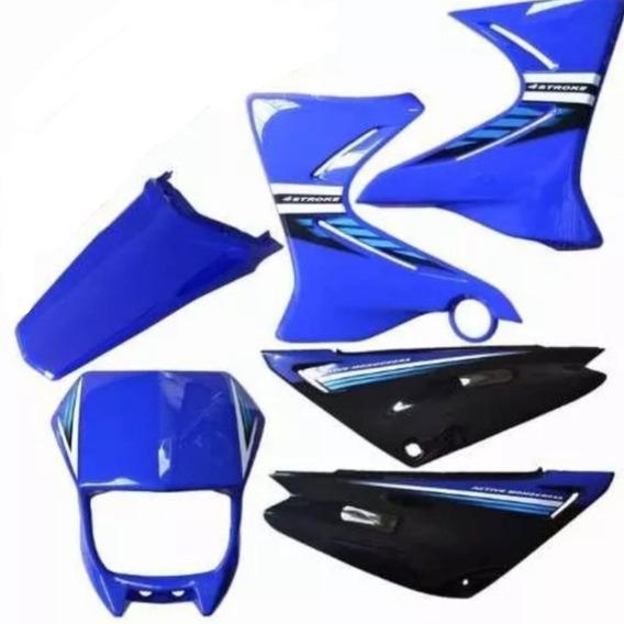 Carenagem Xtz-125 2008 Azul Adesivada