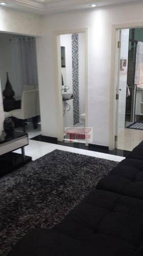 Apartamento Com 3 Dormitórios À Venda, 124 M² Por R$ 636.000,00 - Campestre - Santo André/sp - Ap2849