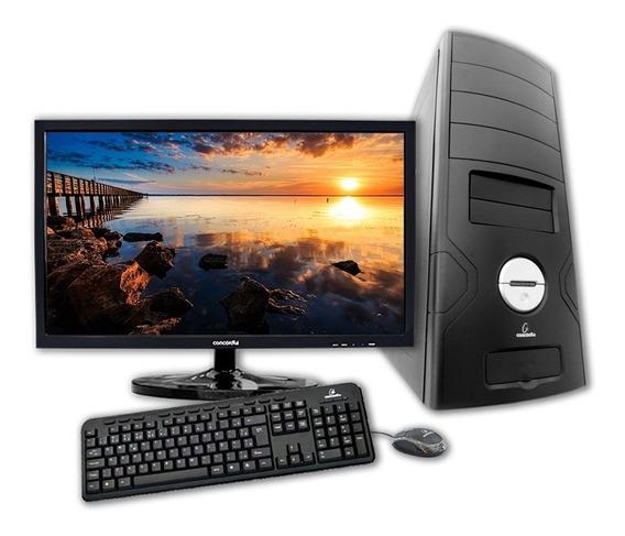 Computador + Monitor 21.5 Concordia - Core I3 8100 4gb Ddr4
