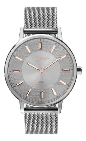 Relógio Euro Feminino Mix Texture Prata Eu2036ypc/3k