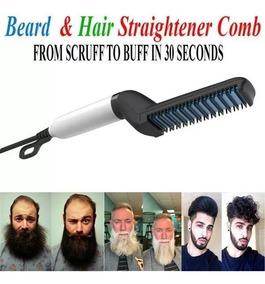 Pente Elétrico Barba Chapinha Para Barba E Cabelo