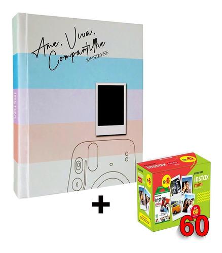 Álbum Instax Scrapbook+ Filme Instax Mini 60 Fotos