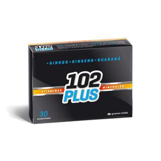 102 Plus Vitaminas Minerales Ginko Ginseng Guarana 30 Comp